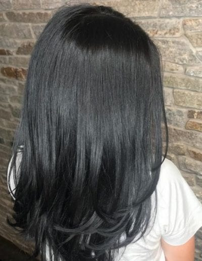 Dark luscious long layers