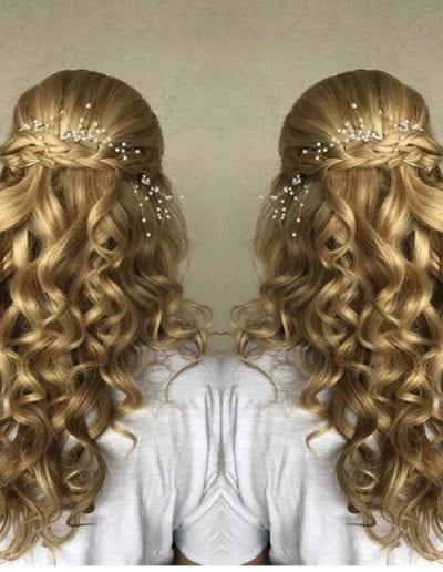 Cascading Bridal Curls