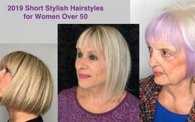 2019 Short Stylish Hairstyles for Women Over 50