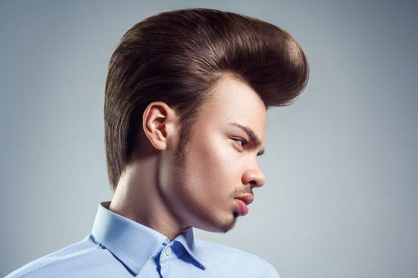 15 Comb Over Fade Haircut Ideas, Pompadour